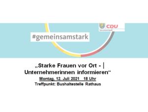 """""""Starke Frauen vor Ort – Unternehmerinnen informieren"""""""